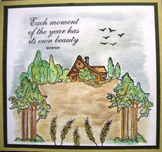 Kaart met Autumn scene-it en Scene-it sentiments stempels, verkrijgbaar bij www.multihobby.nl