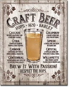 Brew It Passion Metal Sign