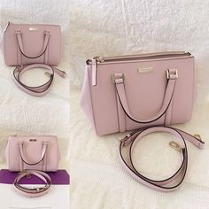 """⚜Kate Spade⚜Newbury Lane Loden Small ✨Brand New With Tag and Bag, Guarantee Authentic✨Also available in white and black•let me know if interested.  $165 + FREE SHIPPING on MERCARY or ️AY️AL  Size: Smallcolor: posypink Details: Satchel with snap closure and an adjustable, removable strap Dual interior slide pockets, two zipper, compartments, and interior zipper pocket Gold Kate Spade New York signature 8.2x10.9x4.7  drop length 4.3"""" handle  14 karat light gold hardware kate spade Bags…"""