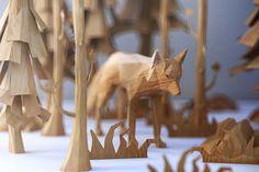 The PolyWood, les animaux low poly en bois de Mat Szulik