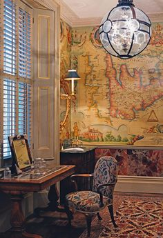 Alidad Design | Gallery...I LOVE the map and globe shaped lamp!!