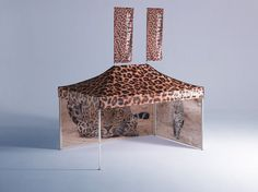 A fully printed Leopard tent made by Mastertent: http://www.mastertent.com/en/tents/classic/classic-6.html