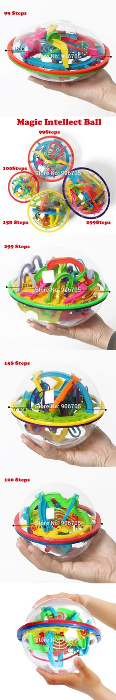 99-299 Steps 3D Magic Intellect Ball Marble Puzzle IQ Game perplexus magnetic balls IQ Balance toys Educational classic toys