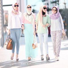 Pastel hijab fashion