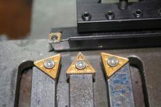 Carbide Insert Tool Holders - Homemade carbide insert tool holders fashioned from surplus tool bits.