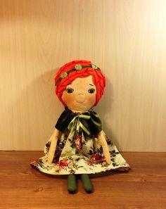 Soft doll fabric doll textile doll cotton doll by NatashaArtDolls