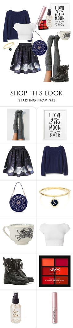 """Cancer the Crab"" by prettygeekchic ❤ liked on Polyvore featuring Gap, Kate Spade, Sir/Madam, Helmut Lang, RED Valentino, NYX, Olivine, Too Faced Cosmetics, contest and cancer"