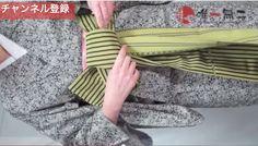 帯揚げ、帯締め、枕さえも使わない!半幅感覚で結べる名古屋帯 Gloves, Fashion, Moda, Fashion Styles, Fashion Illustrations