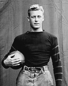 HOBEY BAKER: Known for his magnificent ice hockey play, Hobey Baker was also captain of the Princeton University fotball team. He was a member of three national championship teams, for football in 1911 and hockey in 1912 and 1914, and helped the St. Nicholas Club win a national amateur championship in 1915 | picture: 1915