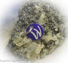 Letter W Hand Engraved Purple Personalized Small by superioragates, $4.00