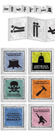Creative Condom packages-brandflakesforbreakfast