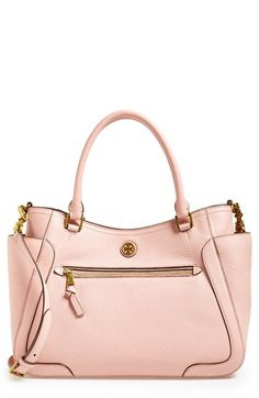 Free shipping and returns on Tory Burch 'Frances' Leather Satchel at Nordstrom.com. A structured silhouette lends contemporary elegance to a chic pebbled-leather satchel polished with an iconic Tory Burch medallion.