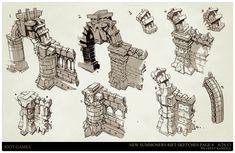 ArtStation - League of Legends, Summoners Rift update Architecture concept art, Trent Kaniuga - Aquatic Moon Environment Painting, Environment Concept Art, Environment Design, League Of Legends, Level Design, Buildings Artwork, Building Concept, Fantasy Map, Prop Design