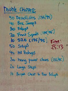 WOD chipper #crossfit