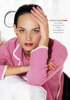 ☆ Amber Valletta | Photography by Gilles Bensimon | For Elle Magazine US | February 1995 ☆ #Amber_Valletta #Gilles_Bensimon #Elle #1995