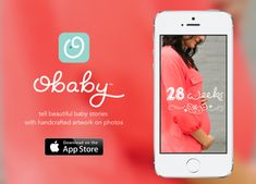 We love the obaby app for weekly/monthly pregnancy or baby shots. Comes with super cute overlays to add to your photos #BabyCenterBlog