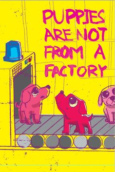 Puppies Are Not From A Factory Illustration by VFIllustration