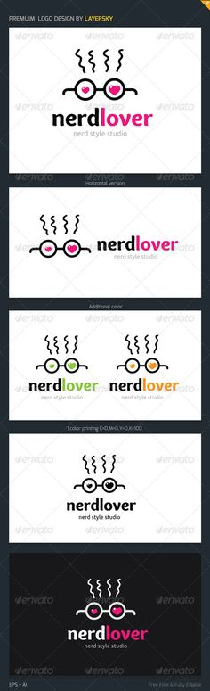 Nerd Lover Logo — Vector EPS #technology #geek • Available here → https://graphicriver.net/item/nerd-lover-logo/3802198?ref=pxcr