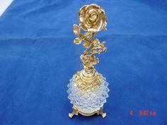 Vintage Stylebuilt Matson Perfume Bottle Diamond Point Glass Rose Motif | eBay