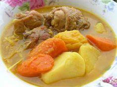 Thịt gà nấu cà ri