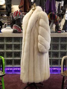 e3c7bbc83ed5 Full Length Shadow Fox Fur Coat Preowned