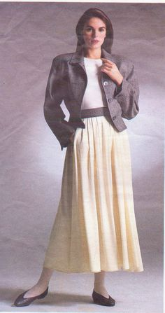 80s Perry Ellis Vogue Sewing Pattern 1914 Womens by CloesCloset