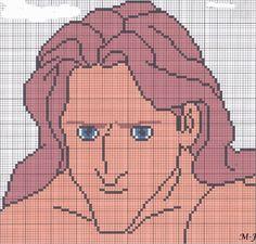 Tarzan Disney hama perler beads pattern
