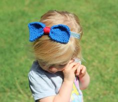 A personal favorite from my Etsy shop https://www.etsy.com/listing/294717277/patriotic-headband-fourth-of-july