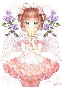 さくら (Sakura) by gomzi Sakura Anime, Manga Anime, Anime Chibi, Sakura Sakura, Girls Anime, Kawaii Anime Girl, Manga Girl, Anime Art Girl, Cardcaptor Sakura
