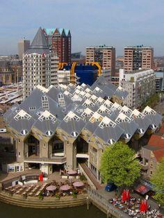 kubus woningen in Rotterdam Blaak - #Rotterdam #Netherlands