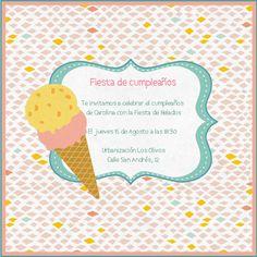 Helados-Celebra con estilo con las invitaciones y tarjetas virtuales de LaBelleCarte: www.LaBelleCarte.com