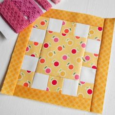 Block 236 - Contrasts. These fabrics work well together in this Tula Pink City Sampler block.