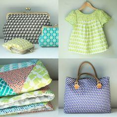 Framework fabric by Ellen Baker for Kokka.