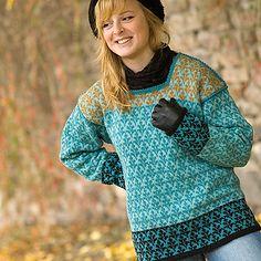Ravelry: Härkeberga Litet Löv Sweater pattern by Anna-Karin Lundberg