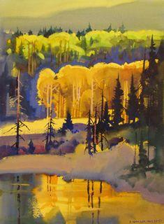 Artist: Stephen Quiller; Title: Autumn Patterns by Allen's Crossing; Medium: Watercolor.