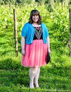 Hailey celebrated her 8th wedding anniversary in COLOR and reviews the Kiyonna Twirling In Tulle Skirt in Melon Marvel on the blog! - DivineMrsDiva.com #KiyonnaStyle #Kiyonna #KiyonnaPlusYou #Torrid #TorridInsider #charmingcharlie #dressbarn #catherines #catherinesstyle #sofft #psblogger #plussizeblogger #styleblogger #plussizefashion #plussize #psootd #SpringStyle #weddingstyle #summerstyle #whattoweartoawedding #tulleskirt