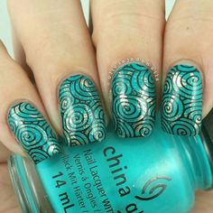 Next up for #wnac2015 is turquoise pattern. Polishes used are #chinaglaze Turned Up Tu... | Use Instagram online! Websta is the Best Instagram Web Viewer!