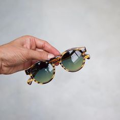 Who likes the Clement Lined Tortoise with it's beautiful gradient green lenses? #komono