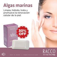 #RaccoManía Jabón Facial de Algas Marinas ARL, 90g de: Bs. 81 por: Bs. 57. Promoción válida hasta el 14/03/2016. #Racco #Limpieza #Tratamiento Ingresa a la revista digital desde tu celular o tablet. Haz clic aquí: http://snyp.us/i0K8
