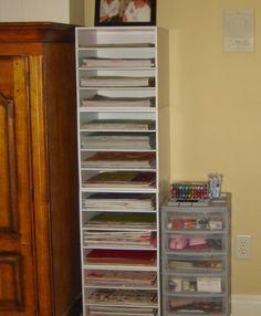 #papercraft #crafting supply #organization. 4 x 4-Shelf Storage Cubes