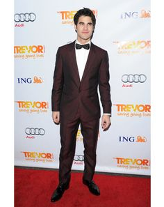 Darren Criss   Your winner and new champion. No one comes correct more often and with more variety than Glee's favorite Warbler, Blaine. Bow ties, trim suits in gutsy shades, saddle shoes, smart casual attire—there's no look or flourish he can't pull off. Want more proof? This is all you need.—S.F.