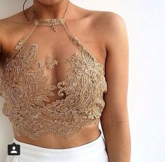 shirt nude lace top top gold cute see through on point clothing outfit tumblr tumblr outfit girly halter crop top lace crop top lace mesh crop halter neck cleavage sparkle