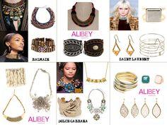 Tendencias!!! Alibey accesorios + accesorios de diseñadores de prestigio!! Lo mas IN en la moda!!   #alibey #accesorios #otoño #collares #pulseras #anillos #brazaletes #complementos