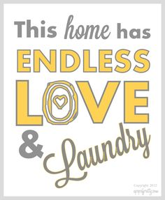 Must print for laundry room!