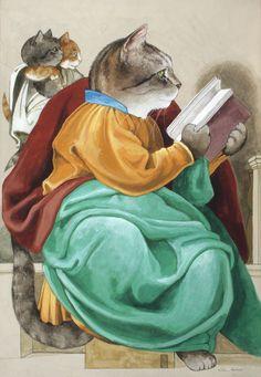 """Zachariah (Sistine Chapel - Michel-Ange)"" par Susan Herbert"