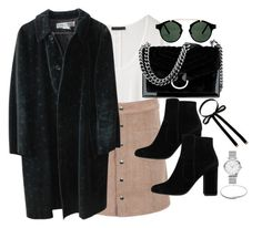 """""""Untitled #2841"""" by theaverageauburn on Polyvore featuring The Row, Comme des Garçons, Nine West, MANGO, Forever 21, Eddie Borgo and Spitfire"""