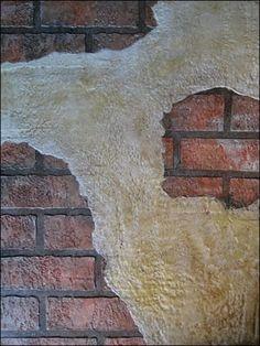 Beautiful Basement Brick Wall Crumbling