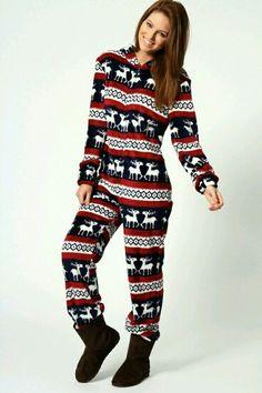 Christmas winter onesie pjs