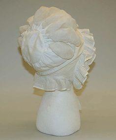 Cap  Date:late 1810sCulture:AmericanMedium:cotton