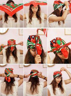 Cómo hacer un turbante estilo Carrie con un pañuelo